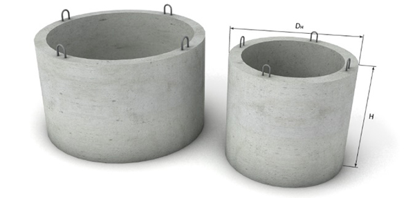 кольца канализационные бетонные