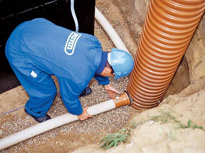 поворотный колодец для канализации