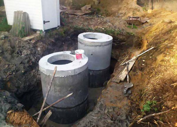 Котлован для канализации в частном доме