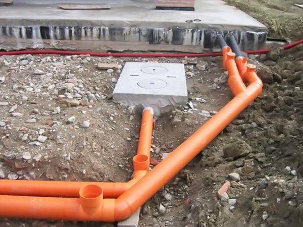 Наружная канализация сооружения трубы