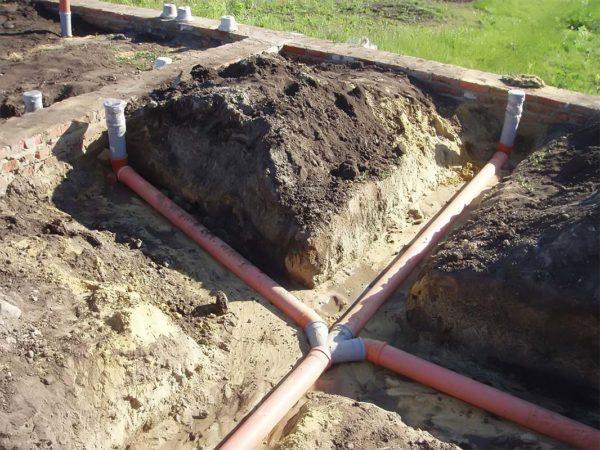 Трубы канализации в частном доме своими руками