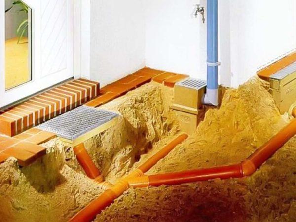 Уклон наружной канализации