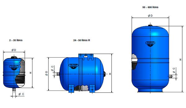 мембранный бак для водоснабжения