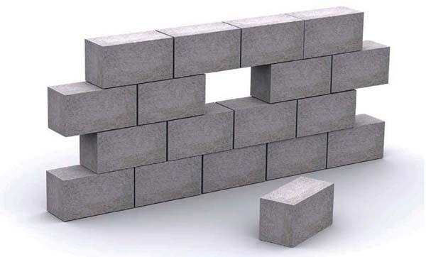 Стена из пенобетонных блоков