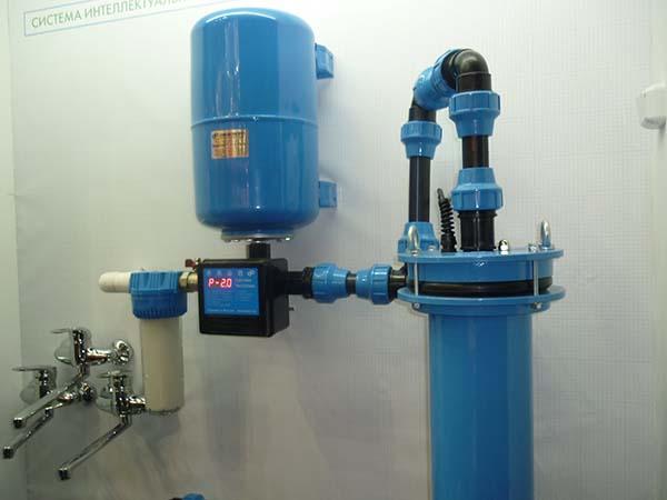 система водопровода с фильтром