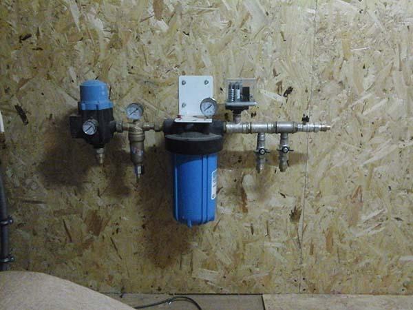 водопроводная система с фильтром