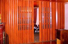 Как выбрать и установить дверь-гармошку