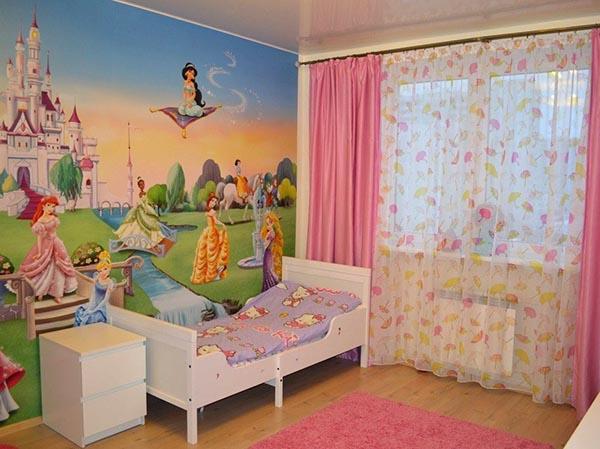 фотообои и детской комнате