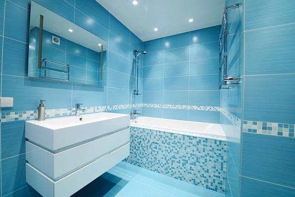 мозаика голубая для ванной комнаты