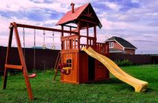 Как сделать деревянный домик для детской площадки
