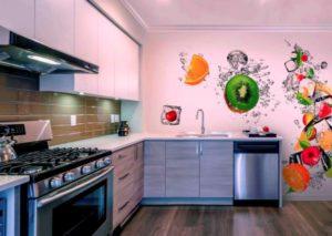 Как выбрать обои для кухни: виды, достоинства и недостатки