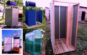 Как сделать дачный душ: выбор материалов, монтаж