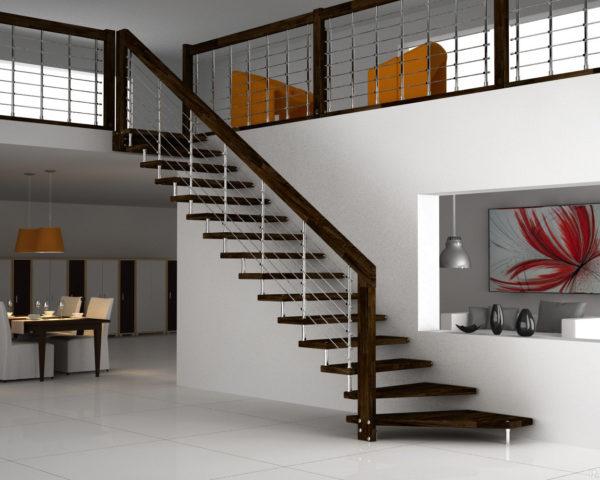 Лестница в частном доме: проектирование и монтаж